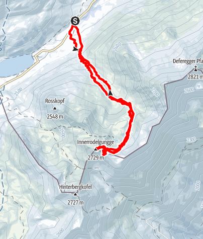 Karte / Stalleralm  - Innerrodelgungge