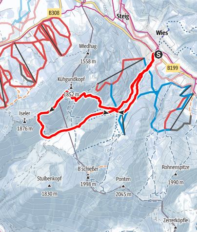 Karte / Kühgundkopf