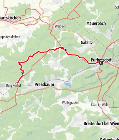 Karte / Von Moderne zum Altertum im Wienerwald