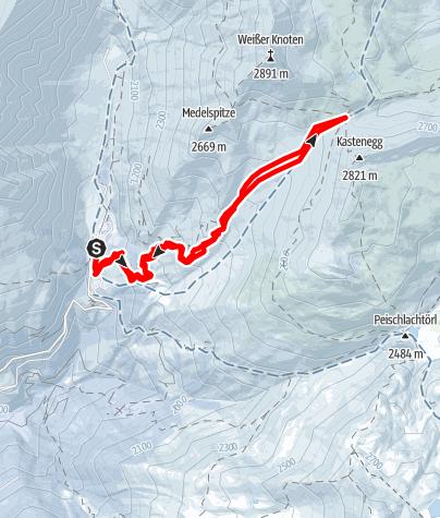 Map / ST Skitour zur Glorerhütte