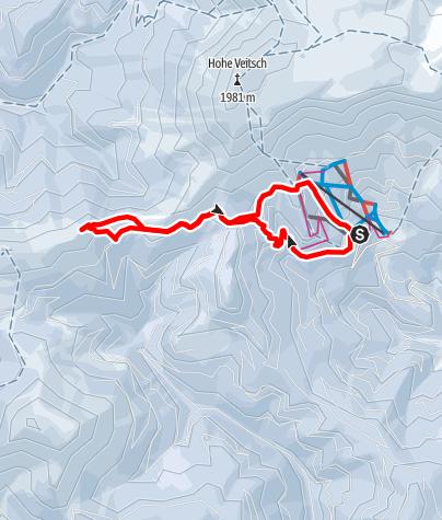 Karte / Turntaler-Vorkogel über die Brunnalm