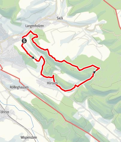 Karte / Rundweg um den Sackwald