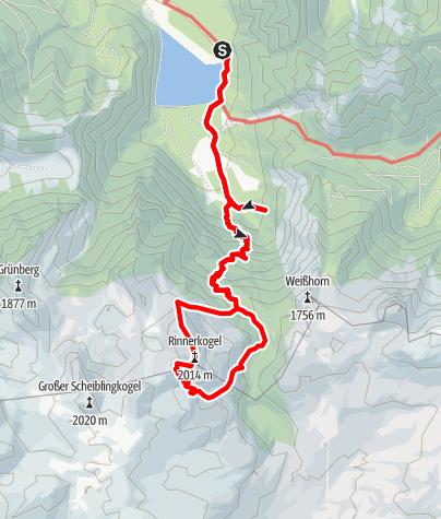Karte / Tourenplanung am 11. März 2018