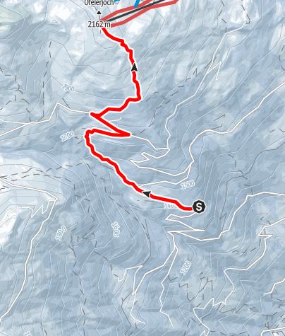 Karte / Zillertaler Höhenstraße zu Kristallhütte
