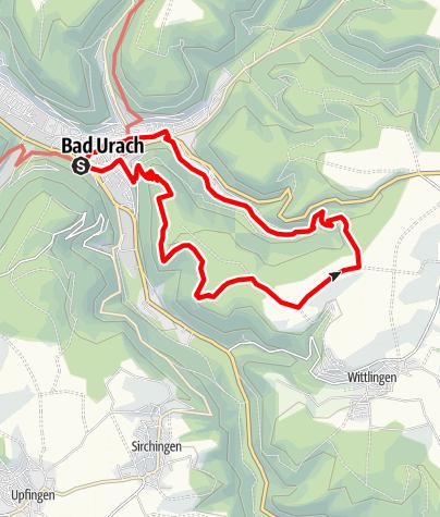 Karte / Bad Urach: Aussichten, Felsenwege und Vergangenes
