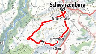 Map / PW Schwarzenburg BE, 7 km Strecke