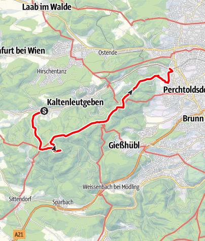 Map / Kaltenleutgeben - Höllenstein - Perchtoldsdorf