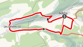 Map / PW Bellelay BE, 12 km Strecke