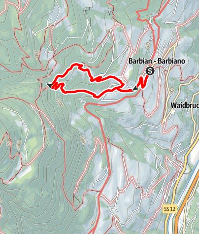 Karte / Von Barbian zu den Barbianer Wasserfällen
