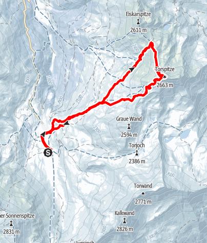 Karte / Torspitze-Überschreitung