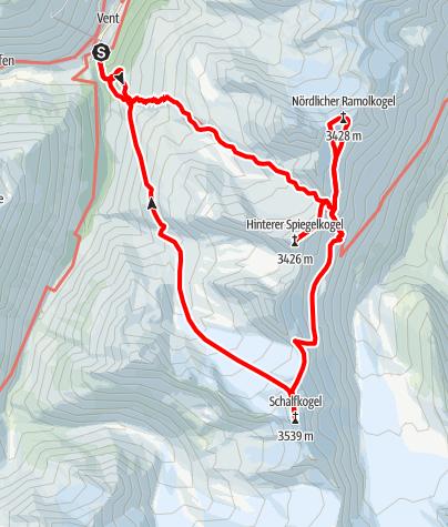Karte / Schalfkogel - Gipfelreigen von Vent
