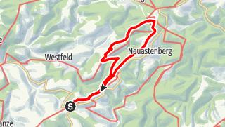 Karte / Albrechtsplatz - Hoher Knochen - Kahler Asten und zurück