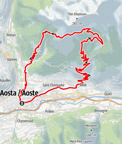 Karte / KtI Aosta | Mont Mary | Aosta