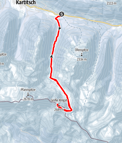 Karte / Großer Kinigat (2689m)