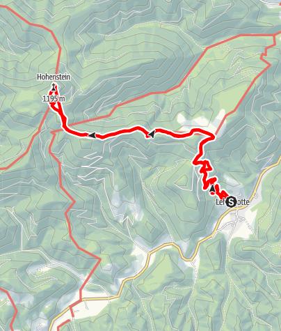 Karte / Hohenstein von Lehenrotte