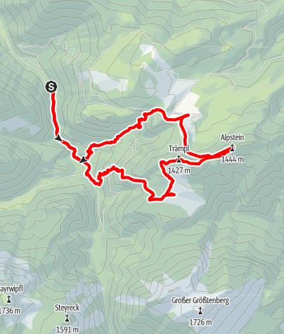 Karte / Trämpl und Alpstein Ebenforsrtalm