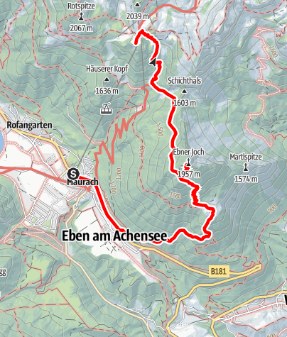 Map / Ebner Joch über Astenauer Alm