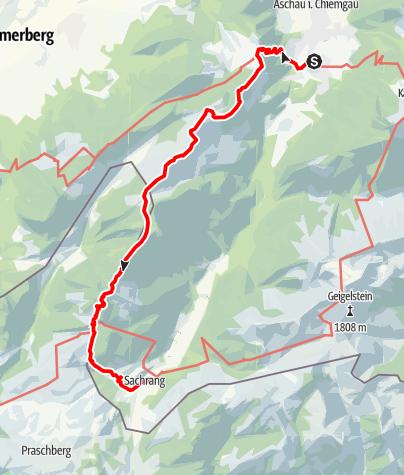 Mappa / Via Zellerhorn bis zum Spitzstein
