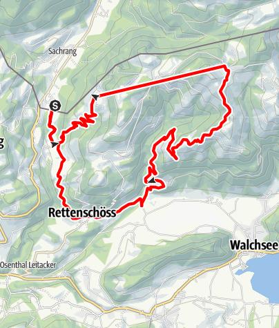Karte / Hitscheralm, Burgeralm, Wildbichlalm zurück nach Sachrang