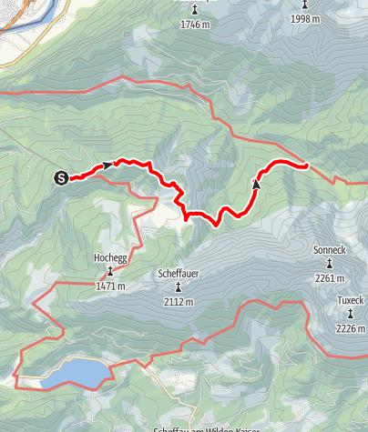 Karte / 2. Tag Bergtour