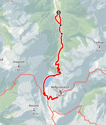 Karte / Weißgrubenkopf 2369m