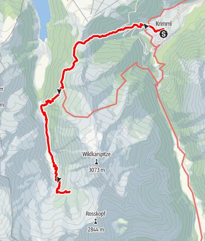 Karte / Krimml - Zittauerhütte via Breitscharte