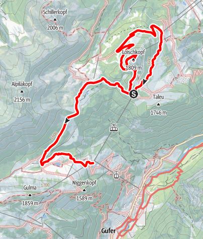 Karte / Vorarlberg: Familienwandern am Loischkopf