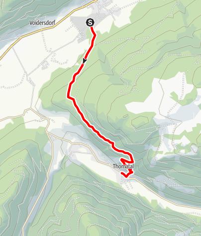 Karte / Unternberg - Thomatal über Schwarzenberg