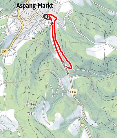 Karte / Wechsellandlauf - Berggasse-Runde
