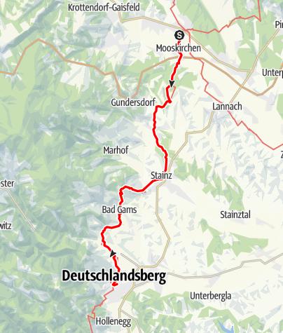 Karte / Graz - Rom 02 Söding-Deutschlandsberg
