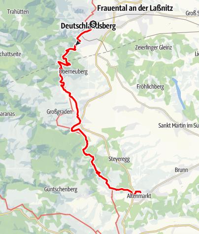 Karte / Graz - Rom 03 Deutschlandsberg-Wies