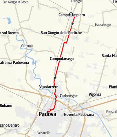 Karte / Graz - Rom 20 Camposampiero-Padova