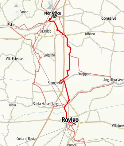 Karte / Graz - Rom 23 Monselice-Rovigo