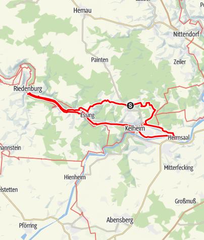 Karte / 50km in 12 Stunden - Unteres Altmühltal