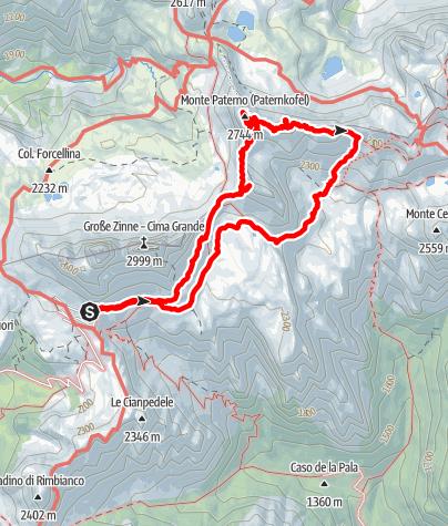 Map / Paternkofel 2744m
