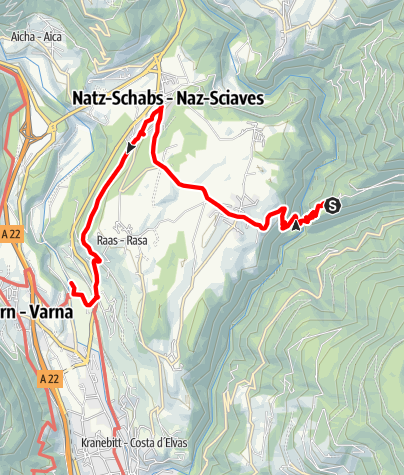 Karte / Kulturwanderung Neustift Brixen