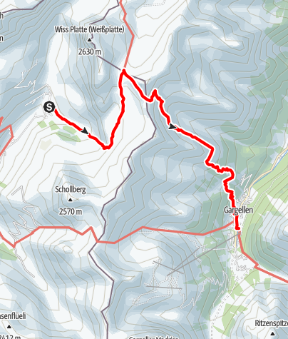 Karte / Partnun-Plassegga-Gargellen
