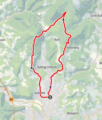 Karte / Andritz Trailrun