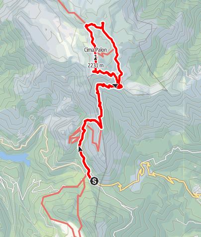 Map / Salita a Cima Palon