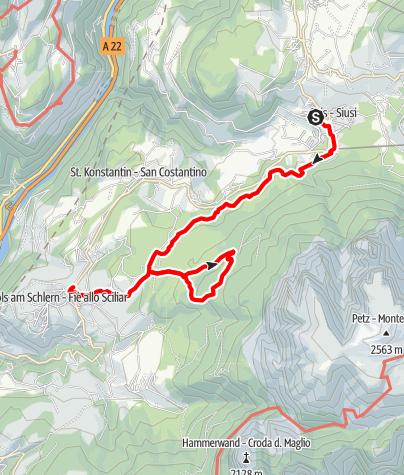 Karte / Völser Weiher - Tufalm