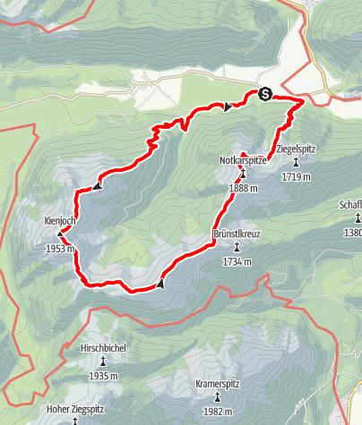 Karte / Gratrunde vom Kienjoch zur Notkarspitze