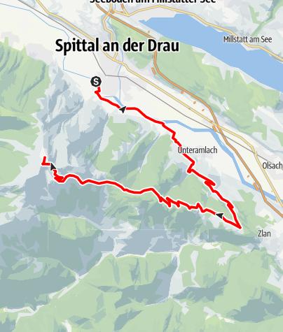 Karte / Goldeck von Spittal