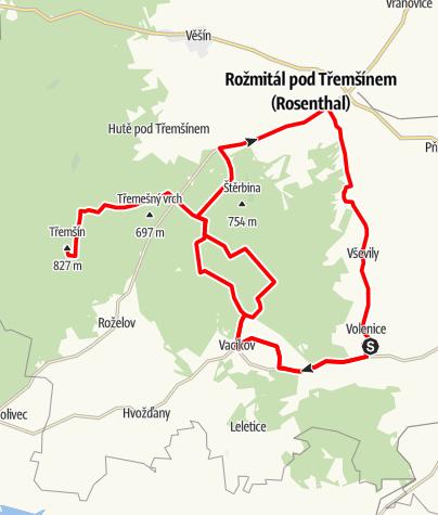 Karte / Rozmital MTB