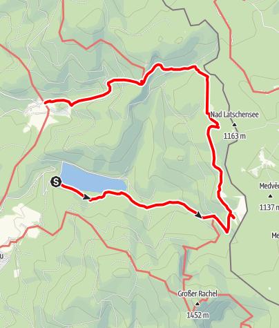 Karte / Schachtenrunde durch den Nationalpark Bayer. Wald