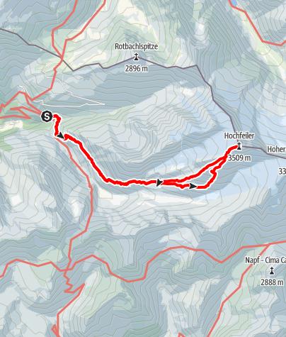 Karte / Hochfeiler 3510m from Gasthof Stein