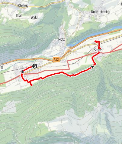 Karte / Wasserfälle in Silz