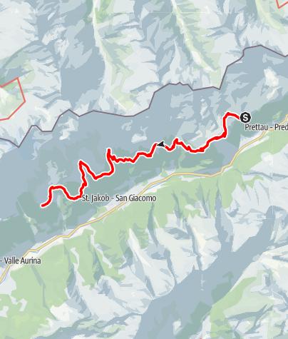 Karte / Ahrntaler Schmugglerpfade Etappe 3: Waldneralm - Holzerböden