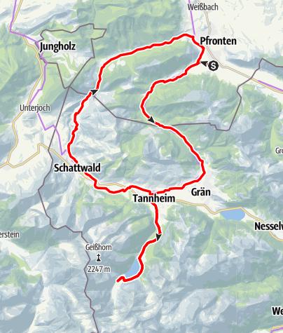 Mappa / durchs Tannheimer Tal zum Vilsalpsee