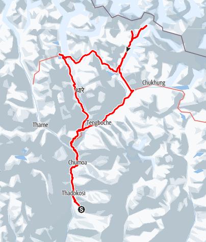 Map / Everest Basecamp & Gokyo Trek
