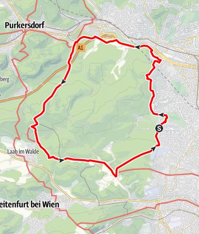 Karte / Rund um den Lainzer Tiergarten